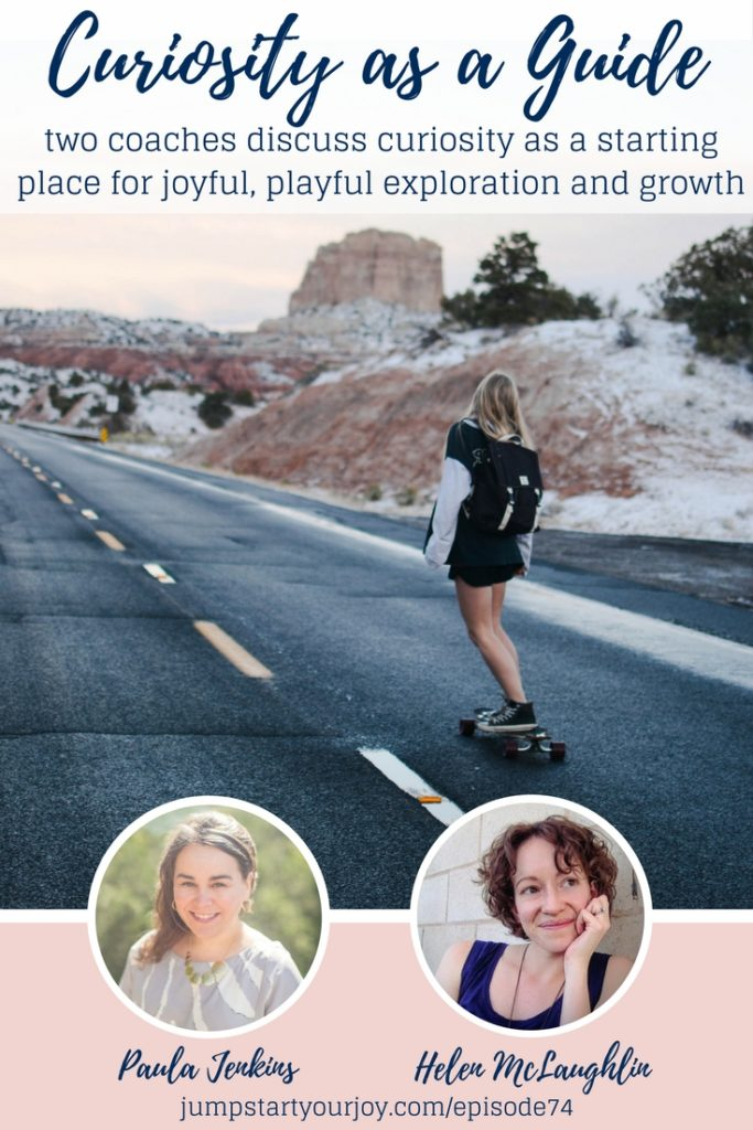 Looking for ways to have a more joyful life? Listen to this great episode where two coaches share about ways to use curiosity as a foundation to live a happy, joyfilled life. Click to listen, Save to Pin for later. www.jumpstartyourjoy.com